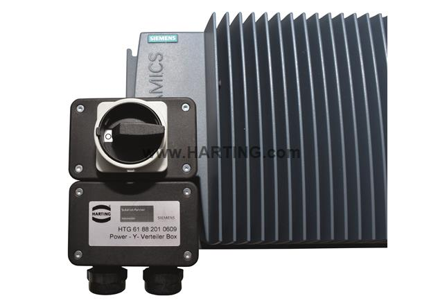 Han Q4/2 Y-Junctionbox w. Switch 3.5kW