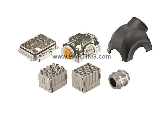 Han-Yellock 30 kit, 25 pin, angled