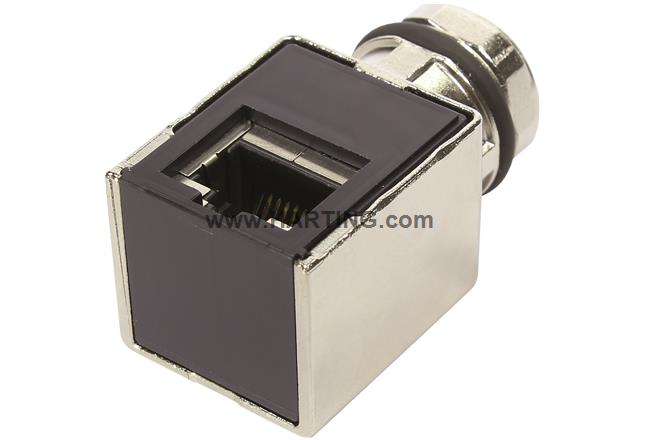 Adapter M12 RJ45 Cat 5a angled