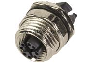 M12 Cat6A receptacle strai. female back