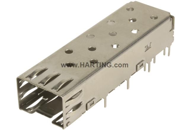 SFP CAGE ASSY 1X1 SOLDER TYPE