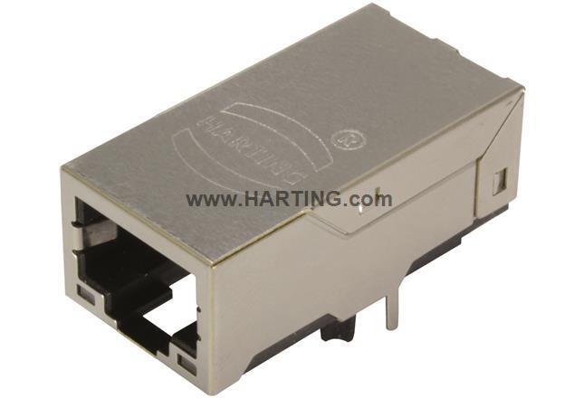 RJI RJ45 jack 10/100 Mbit angl. LV