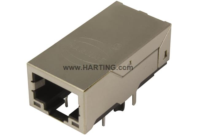 RJI RJ45 jack 1Gbit angl. LV biLEDs LV