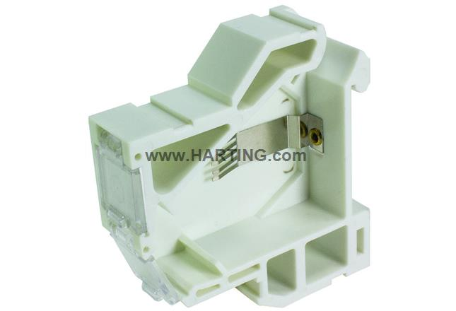 RJI DIN-rail outlet for keystone jacks