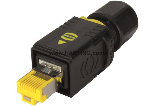 PushPull V4 plug, RJ45, Cat.6, IDC
