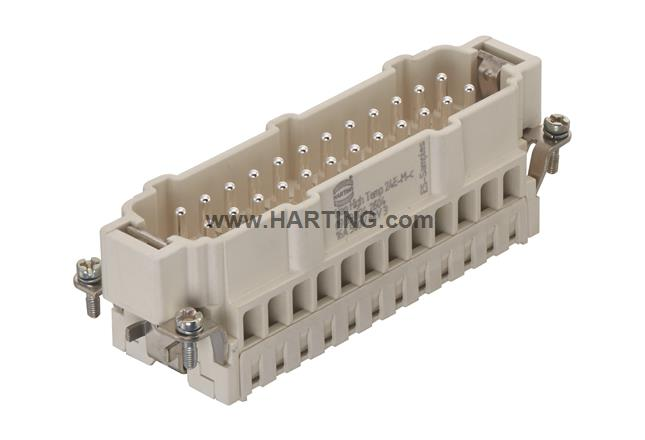 24 Contacts Plug Han ES Press Series 24B Cage Clamp Pin Heavy Duty Connector HARTING 09332242648 Insert