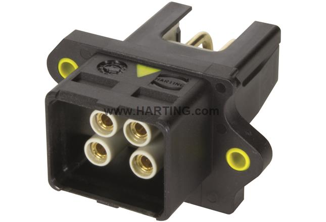 HARTING PushPull V4 WDF 48V/12A 4p THT