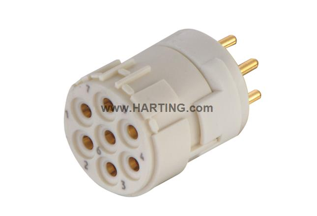 Han M23 07 Female -soldered contact