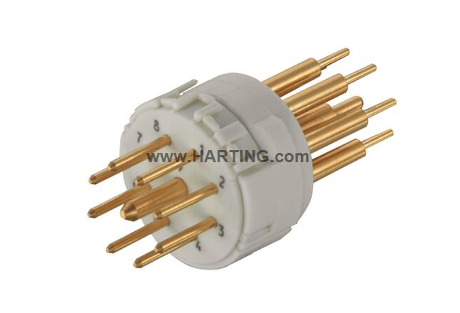 Han M23 09 Male -soldered contact