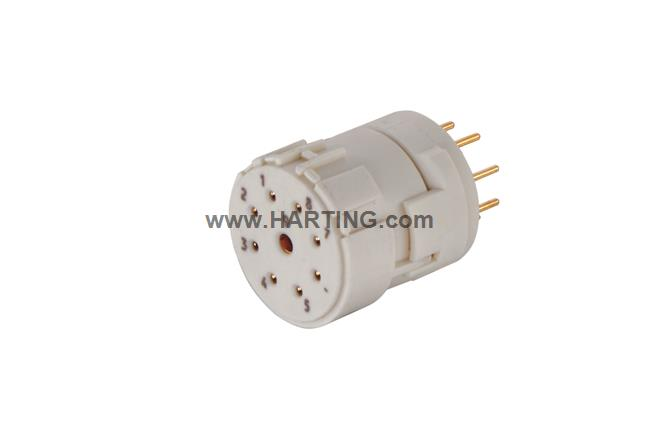 Han M23 09 Female -soldered contact