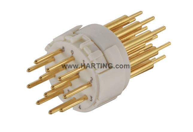 Han M23 12 Male -soldered contact