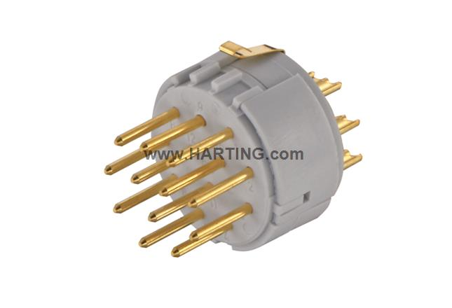 Han M23 12+PE Male -solder (termination)