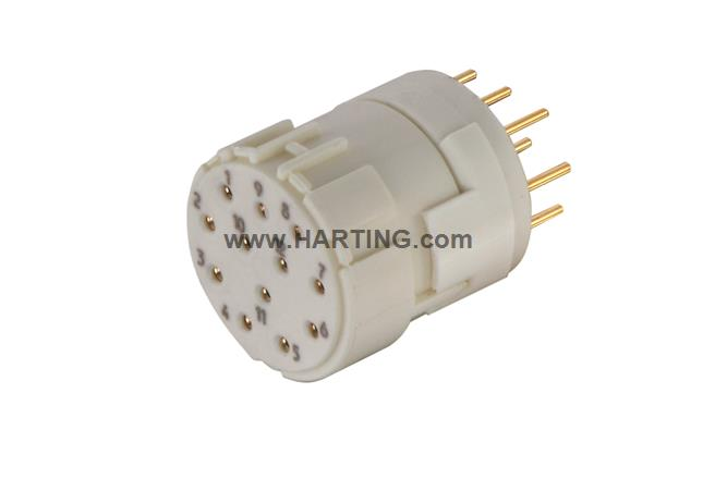 Han M23 12 Female -soldered contact
