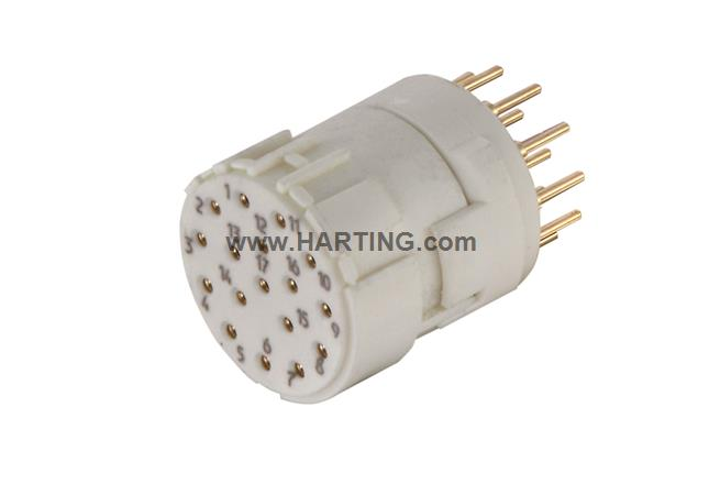 Han M23 17 Female -soldered contact