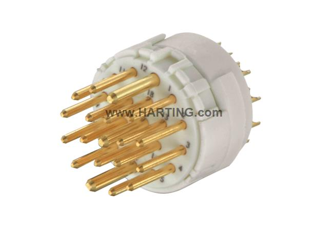 Han M23 19 Male -solder (termination)