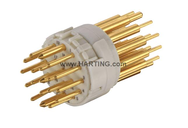 Han M23 19 Male -soldered contact