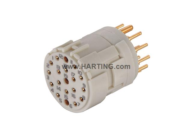 Han M23 19 Female -soldered contact