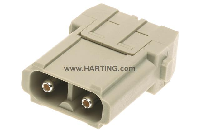 Han 40A axial module, male 6-10 mm²
