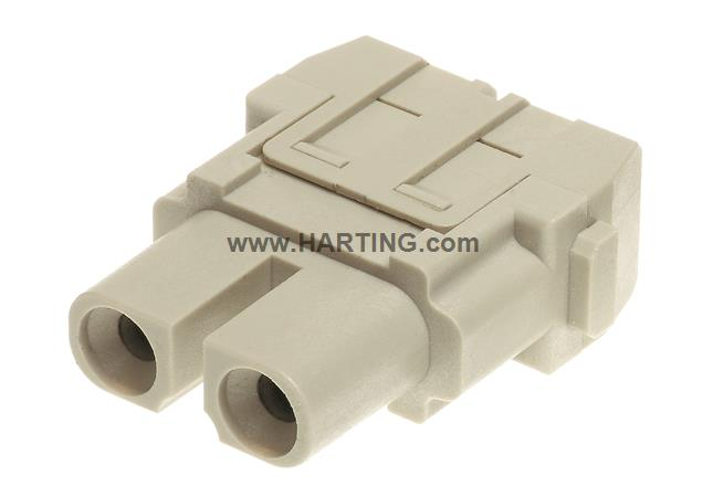 Han 40A axial module, female 6-10 mm²