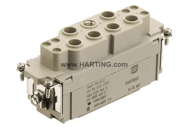 Han K 6/6 Pos. F Insert Combi with crimp
