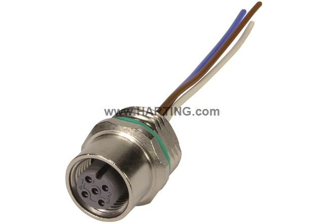 M12 Cable Assembly A-cod st/- f/- 0,5m