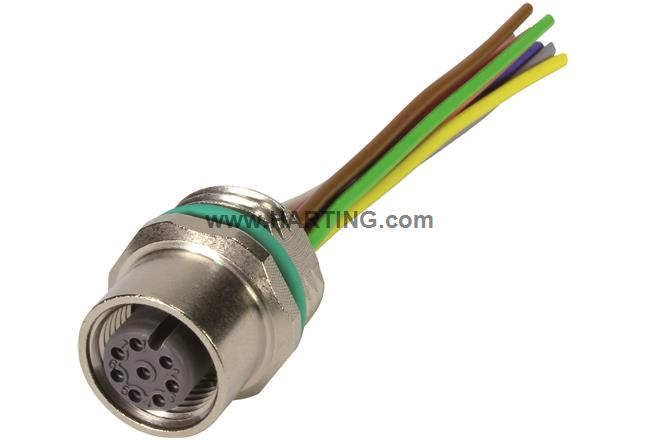M12 Cable Assembly A-cod st/- f/- 1,0m