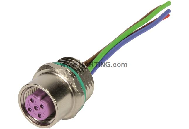 M12 Cable Assembly B-cod st/- f/- 0,5m