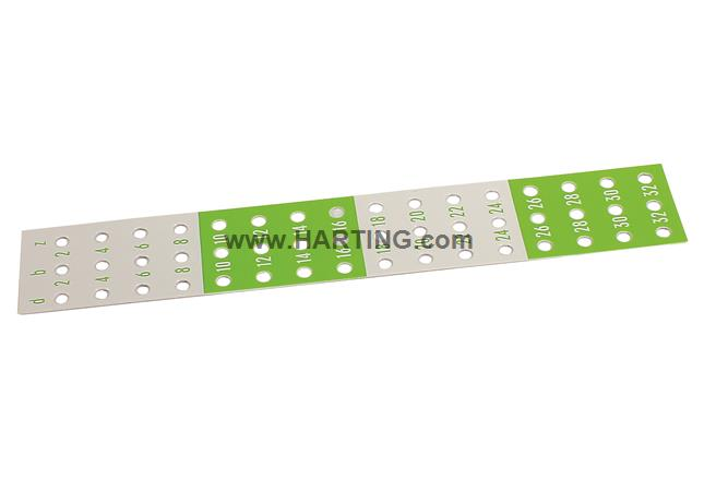 DIN-Power identification strip