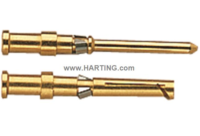 Han D M crimp contact 0,14-0,37mm Au/HMC