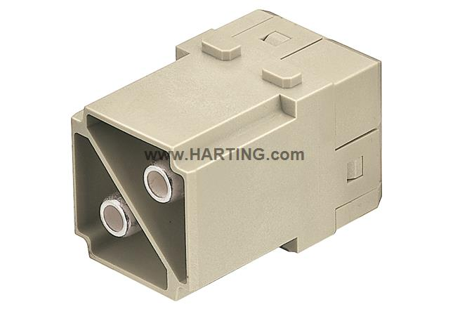 Han 100A axial module, male 10-25 mm²