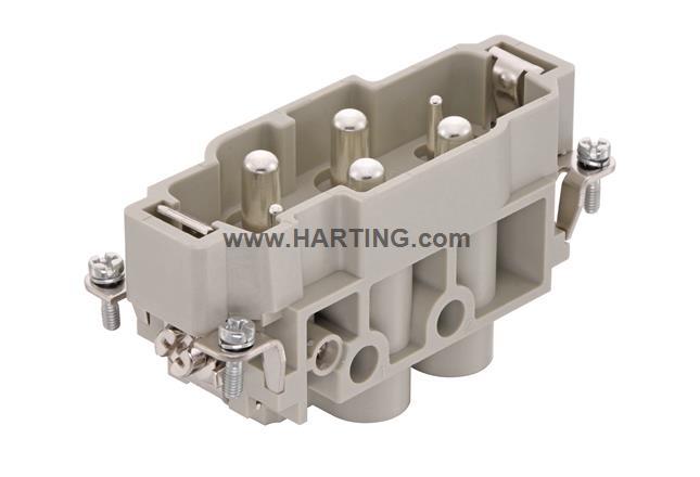 Han K 4/2 Pin Male Insert