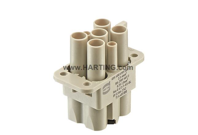 Han Q 4/2-F insert with QL 2,5-6mm²