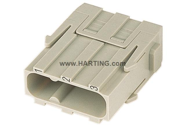 Han C module, crimp male (two part)