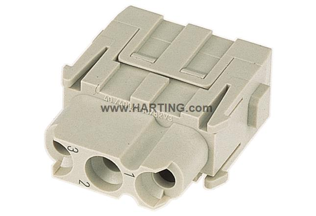 Han C module, crimp female (two part)