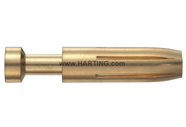 Han E F Crimp Contact Au 0.5 mm/20AWG