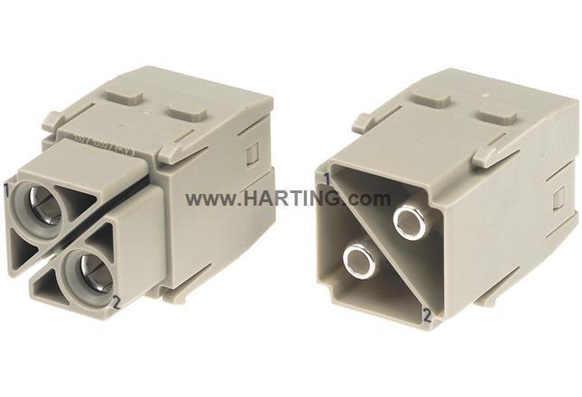 Han 100A axial module, female 10-25 mm²