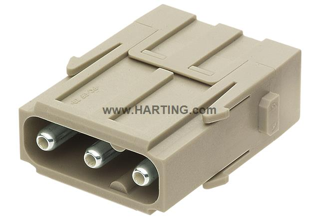 Han C axial module, male 6-10mm²