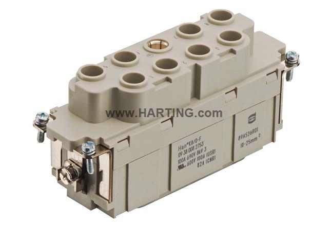 Han K 8/0 Pos. Insert 100 Amp. 10-25mm