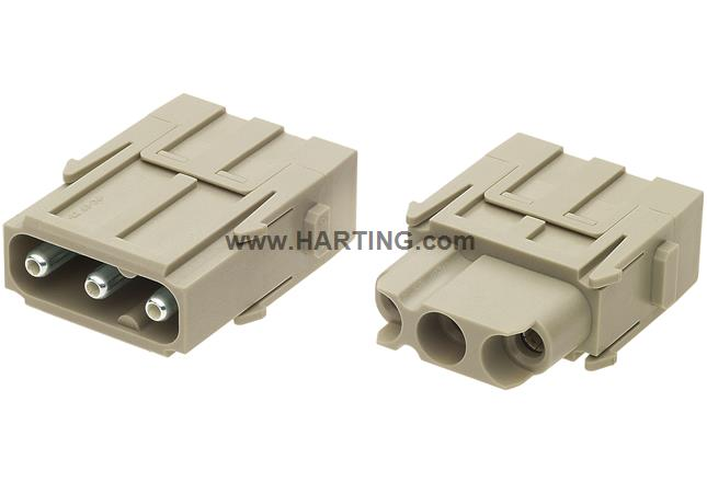 Han C axial module female 2,5-8mm²