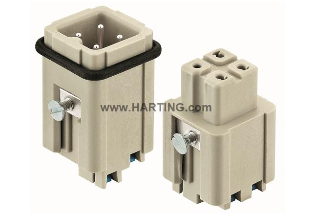 Han 3A female insert with Quick-Lock
