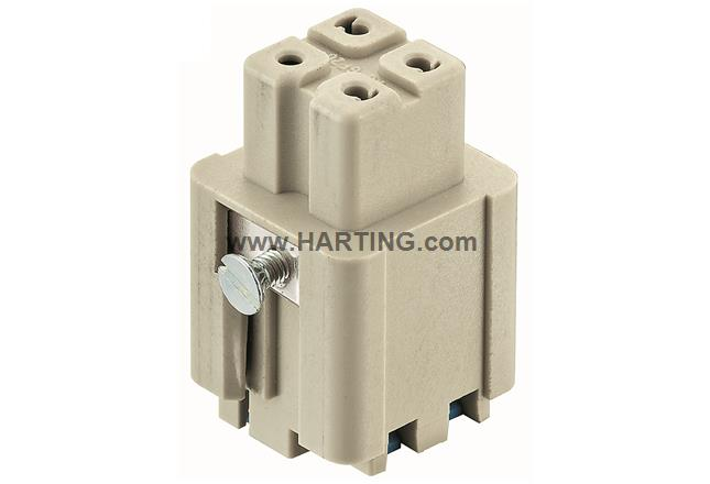 Han 3A female insert Quick-Lock 1,5mm²