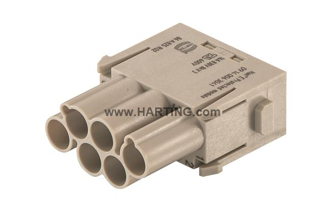 Han E Protected module, crimp male