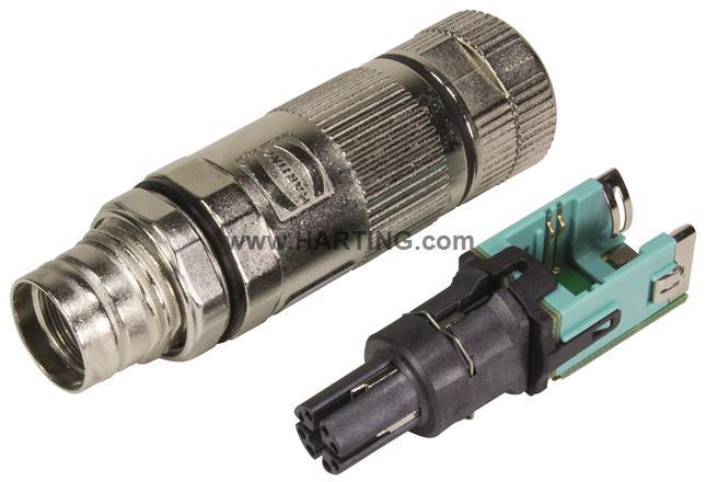 preLink M12-X cable jack 8-pole Cat.6A