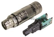preLink M12-X cable jack 8-pole Cat.6A