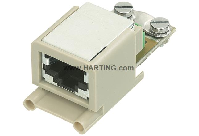 Han Brid-RJ45 panel feed through