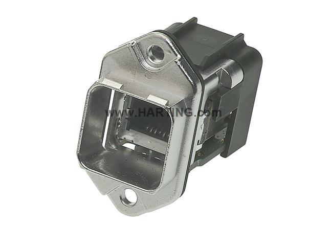 Han PushPull RJ45 90° metal WDF