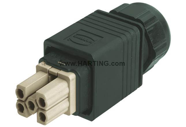 Han PushPull Power plug 4_0 crimp PG9