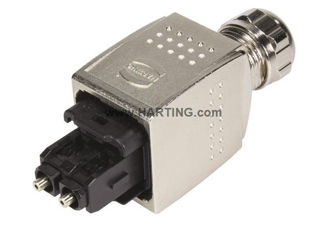 Han PP V14 SCRJ plug metal w/o SC