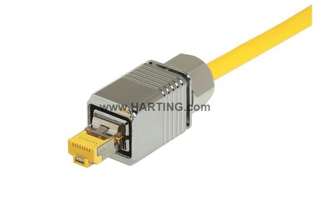 HPP V4 RJ45 10G plug Cat6 8p, metal
