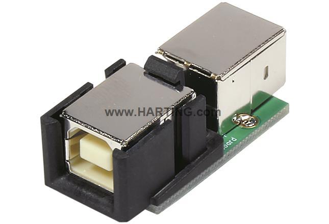 HPP V4 USB 2.0 PCB, 2x USB B-B angled